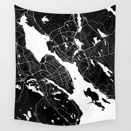 Halifax - Minimalist City Map Wall Tapestry
