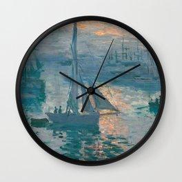 Sunrise Marine by Claude Monet, 1873 Wall Clock