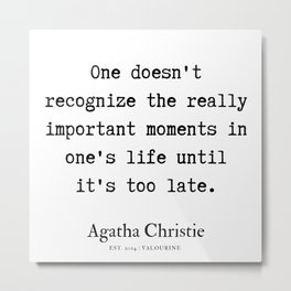 10   | Agatha Christie Quotes | 190821 Metal Print