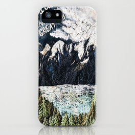 Mountaints Embroidery iPhone Case