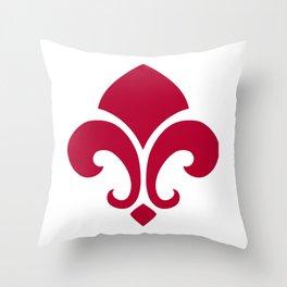 Red Garnish Throw Pillow