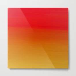 Red Apple and Golden Honey Ombre Sunset Metal Print