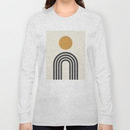 Mid century modern gold Long Sleeve T-shirt