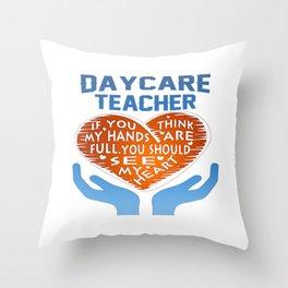 Daycare Teacher Throw Pillow