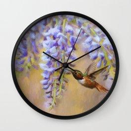Wisteria Elegance Wall Clock