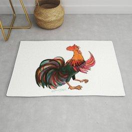 Rooster Crowing Rug