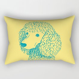 Poodle (Yellow and Teal) Rectangular Pillow