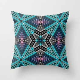 Abstract star, geometric, simple, striped, stripes, ornament Throw Pillow