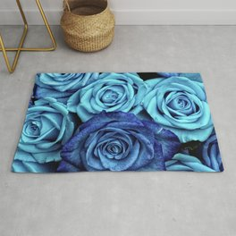 Blue Roses Rug