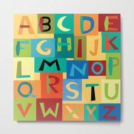 Papercut Alphabet Metal Print