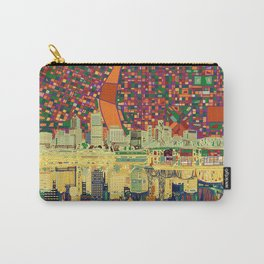 portland city skyline Carry-All Pouch
