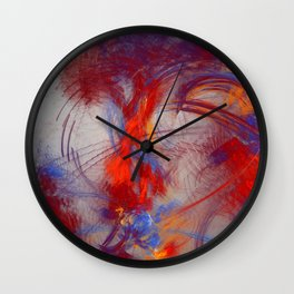 burning Heart Wall Clock