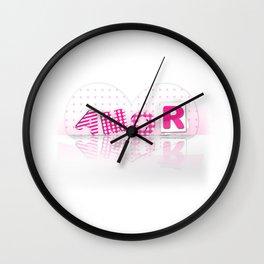 amor romántico lindo corazón rosa Wall Clock