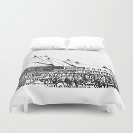 """The Starting Gate"" Saratoga Springs Race Course Track Duvet Cover"