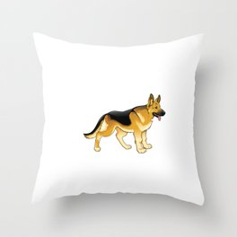 German Shepherd Engineering: Home Security System Throw Pillow