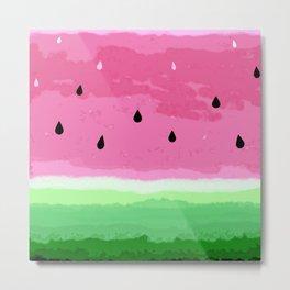 Cute watermelon design Metal Print