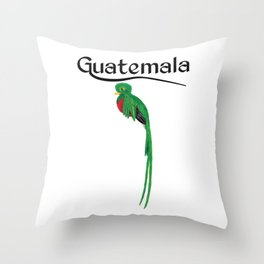 Guatemala Quetzal Chapin Guate Antigua Coffee Peten Tikal Maya Puchica Gift Retro Women Men Mujer Throw Pillow