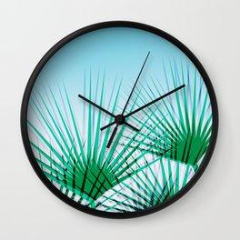 Airhead - memphis throwback retro vintage ombre blue palm springs socal california dreamer pop art Wall Clock