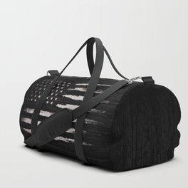 White Grunge American flag Duffle Bag