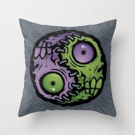 Zombie Yin-Yang Throw Pillow