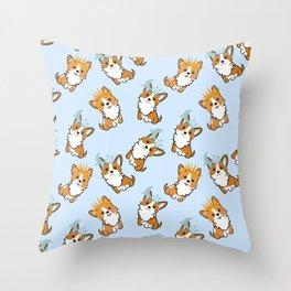 Corgi seamless pattern Throw Pillow