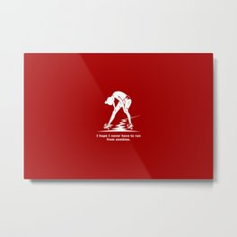 Running from Zombies Metal Print