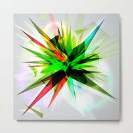 Abstract colorful intense explosion Metal Print