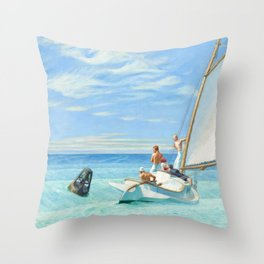 Ground Swell OIl Painting by Edward Hopper Throw Pillow