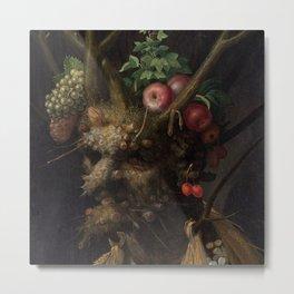 Giuseppe Arcimboldo - Four Seasons in One Head Metal Print