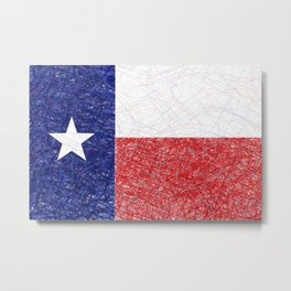 Texas flag scribble Metal Print