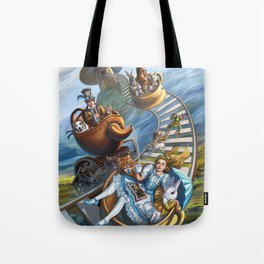 Steampunk Alice in Wonderland Teacups Tote Bag