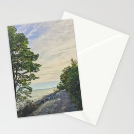 Road side beach Stationery Cards
