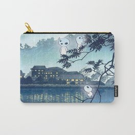 Kodama, Forest spirits vintage japanese woodblock mashup Carry-All Pouch