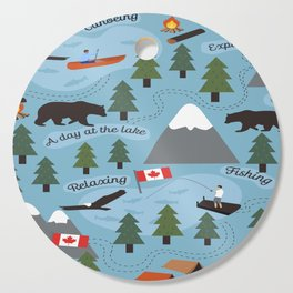 Day at the Lake - Blue Cutting Board