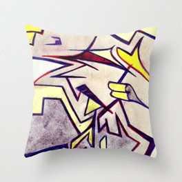 shuteye in yellow Throw Pillow