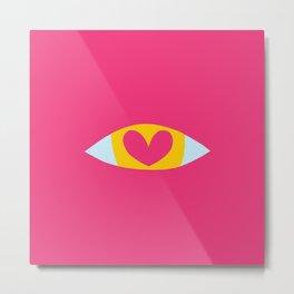 Heart Eye - PINK Metal Print