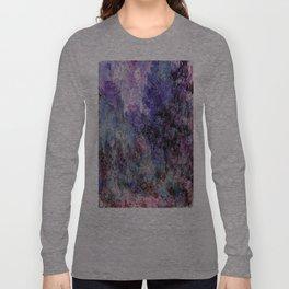 Monet : The House Seen From the Rose Garden Long Sleeve T-shirt