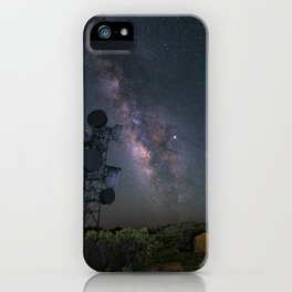 Milky Way over Mount Laguna Observatory Tower iPhone Case