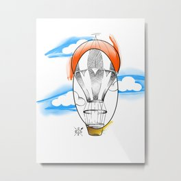 Hot Air balloon draw Metal Print