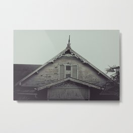 Sepia/Black and white Gingerbread Home Print, Historic Home Print, Colonial Home Photography, Trini Metal Print