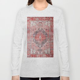 Vintage Anthropologie Farmhouse Traditional Boho Moroccan Style Texture Long Sleeve T-shirt