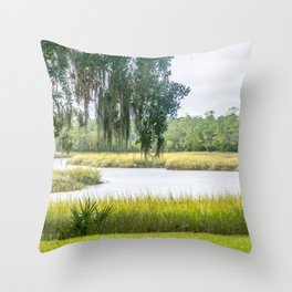 By the Bayou Throw Pillow