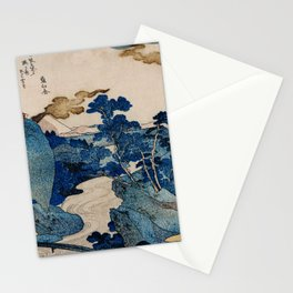 Cottages On Cliffs Traditional Japanese Landscape Stationery Cards