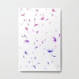 Dandelion Seeds Bisexual Pride (white background) Metal Print