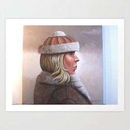 WINTER IN SAINT MORITZ Art Print