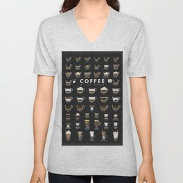 Coffee Types Chart Unisex V-Neck