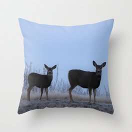 My Darling Deer Throw Pillow