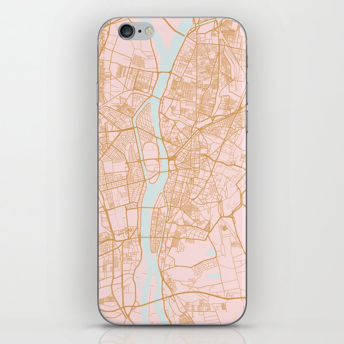 Cairo map, Egypt iPhone Skin