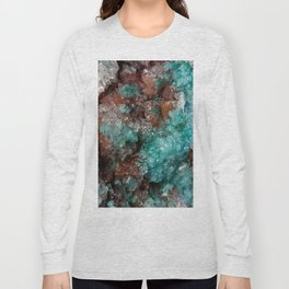 Dark Rust & Teal Quartz Long Sleeve T-shirt
