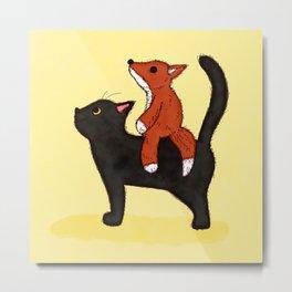 Cat Back Riding? Metal Print